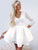 Lace White Homecoming Dress Party Cheap Homecoming Dress #VB2635