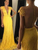 Chic Yellow Sheath Prom Dress V Neck Lace Cheap Prom Dress #VB2640