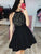 Black Lace Homecoming Dress Party Cheap Chiffon Homecoming Dress #VB2650
