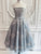 Chic Silver Lace Homecoming Dress Party Cheap African Homecoming Dress #VB2664