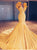 Mermaid Yellow Prom Dress V Neck African Cheap Long Prom Dress # VB2690