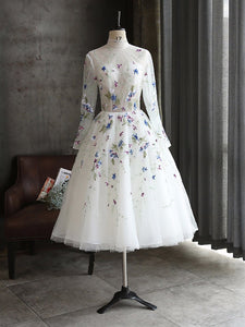 Chic Lace Homecoming Dress Cheap White African Homecoming Dress #VB2699