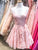 Chic Pink Homecoming Dress Lace Party Cheap Homecoming Dress #VB2709