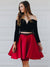 Two Piece Homecoming Dress Black And Red Cheap Homecoming Dress #VB2714