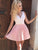 Chic Pink Homecoming Dress A Line Party Cheap Homecoming Dress #VB2724