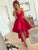 Chic Red Homecoming Dress Lace Party Cheap Homecoming Dress #VB2726