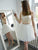Two Piece Homecoming Dress Ivory Lace Long Sleeve Homecoming Dress #VB2730