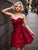 Burgundy Homecoming Dress Lace Party Cheap Homecoming Dress #VB2735