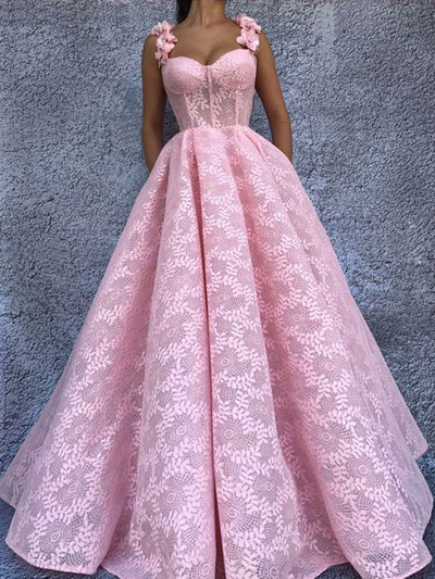 cc4e8024d7 Ball Gown Prom Dress Pink Vintage Lace African Prom Dress   VB2756 ...