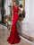 Two Piece Red Prom Dress Mermaid Cheap African Prom Dress # VB2763