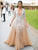 Mermaid V Neck Prom Dress Lace Long Sleeve African Prom Dress # VB2773