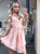 Lace Pink Homecoming Dress African Party Cheap Homecoming Dress #VB2796