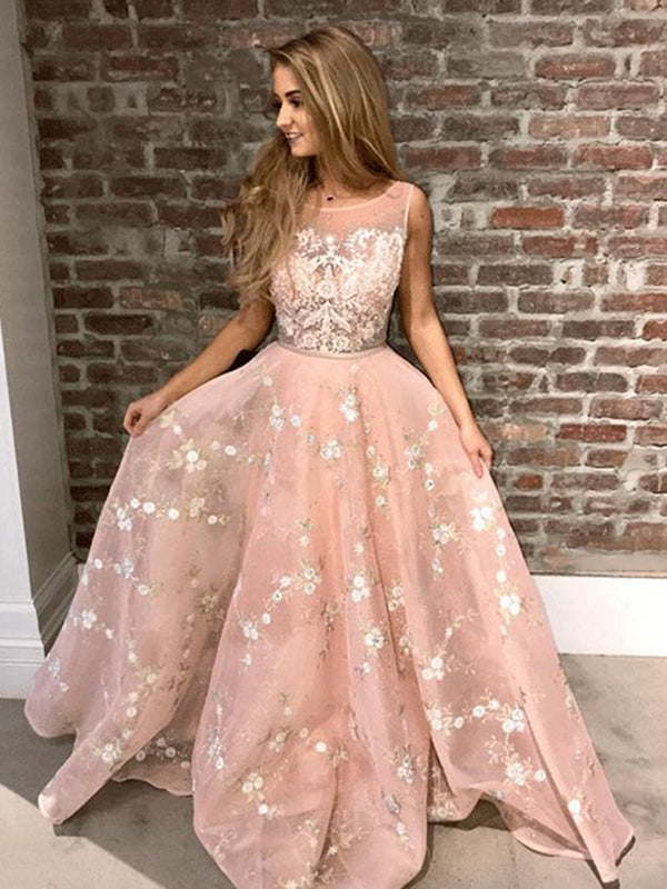 Lace Prom Dress African Cheap A Line Long Prom Dress Vb2797