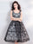 Vintage Black Homecoming Dress Lace Party Cheap Homecoming Dress #VB2806