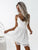 White Lace Homecoming Dress Party Cheap A Line Homecoming Dress #VB2812
