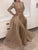 Mermaid Long Sleeve Prom Dress Vintage African Gold Prom Dress # VB2819