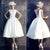 White Vintage Homecoming Dress Party Cheap Homecoming Dress  #VB2827