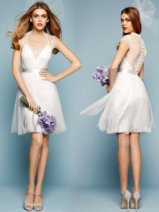 Ivory Tulle Bridesmaid Dresses Cheap Lace Bridesmaid Dresses # VB2834