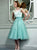 Lace Beautiful Homecoming Dress Party Cheap Green Homecoming Dress #VB2838