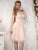 Pink Tulle Homecoming Dress Party Cheap Simple Homecoming Dress #VB2840