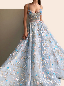 Vintage Lace Prom Dress Cheap African Long Blue Prom Dress # VB2906