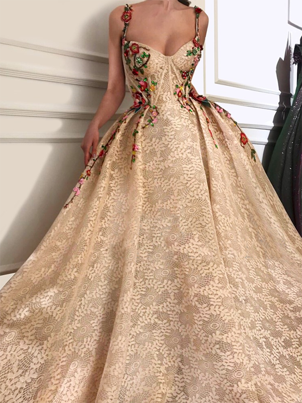 a584c416db Vintage Lace Prom Dress Ball Gown Cheap African Long Prom Dress   VB29 -  DemiDress.com