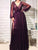Chic V Neck Cheap Prom Dress Long Sleeve Vintage African Prom Dress # VB3002