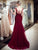 Mermaid Burgundy Prom Dress Lace Beautiful African Prom Dress # VB3014