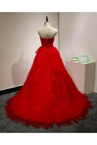 Chic Red Prom Dress African Beautiful Cheap Long Prom Dress # VB3051