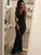 Mermaid Black Prom Dress African Chiffon Cheap Long Prom Dress # VB3074