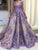 Vintage Lace Purple Prom Dress A Line Long Prom Dress # VB3087