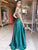 Chic Lace A Line Prom Dress Cheap Long Tulle Prom Dress # VB3089