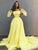 Yellow Plus Size Prom Dress Off The Shoulder Vintage Prom Dress # VB3143