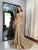 Vintage Mermaid Prom Dress Plus Size African Gold Lace Prom Dress # VB3405