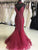 Vintage Mermaid Prom Dress Plus Size African Long White Prom Dress # VB3408