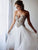 Chiffon A Line Prom Dress Plus Size Beading Ivory Prom Dress # VB3417