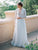 Long Sleeve V Neck Wedding Dress Plus Size Ivory Lace Beach Wedding Dress # VB3428