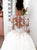 Vintage Ball Gown Wedding Dress Plus Size Ivory Lace Long Sleeve Wedding Dress # VB3431