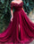 Vintage Burgundy Prom Dress Off The Shoulder Plus Size Prom Dress # VB3446
