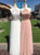 Chic Pink A Line Prom Dress Tulle Cheap Long Prom Dress # VB3449