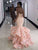 Mermaid Pink Prom Dress Sweetheart Plus Size African Prom Dress # VB3486