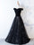 Chic Black Prom Dress Lace Cheap Short Sleeve Prom Dress # VB3492