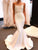 Mermaid Ivory Wedding Dress Satin Beautiful Cheap Wedding Dress # VB3506