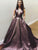 A Line Halter Prom Dress Cheap Plus Size Long Prom Dress # VB3507
