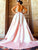 Chic Pink Lace Prom Dress Satin African Plus Size Prom Dress # VB3516