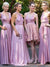 A-line V-neck Floor-length Sleeveless Chiffon Bridesmaid Dresses # VB369