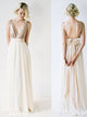 A-line V-neck Floor-length Sleeveless Chiffon Bridesmaid Dresses # VB392