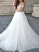 2018 Chic A-line Wedding Dress Lace Cheap Wedding Dress # VB400 - DemiDress.com