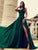 Chic Green Prom Dress A Line African Cheap Long Prom Dress # VB4101