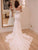 Vintage Ivory Wedding Dress Lace Mermaid Off The Shoulder Wedding Dress # VB4102